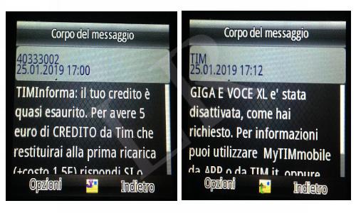 sms di notifica