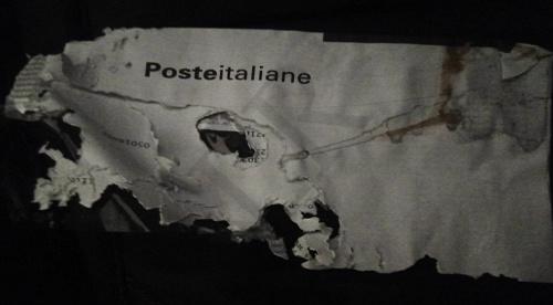 comunicazione postale rovinata